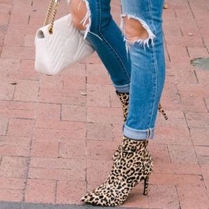Steve Madden Leopard Calf Hair Booties